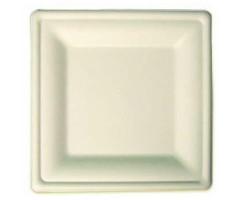 Assiette en pulpe carrée 18 cm