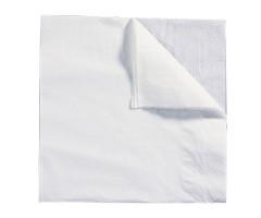 Serviette blanche 40cm 2 plis